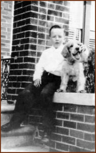 Howard Christensen with his dog