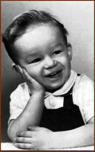 Howard Christensen as a child
